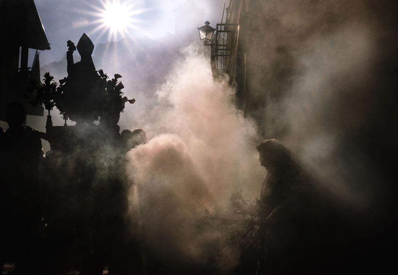 Fiesta humo Arnedo, David Airob