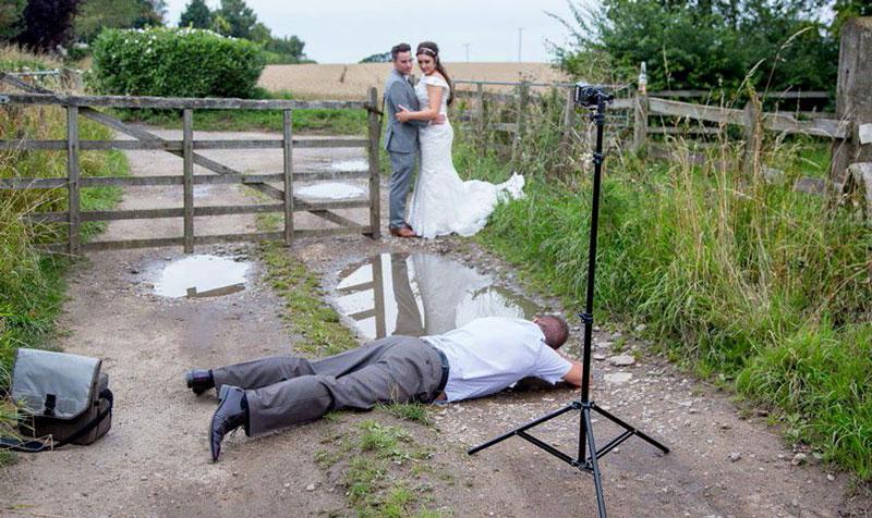 Making of de una foto original de bodas