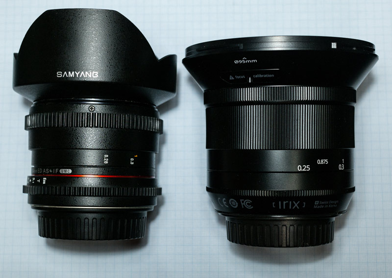 Comparativa Irix 15mm Samyang 14mm