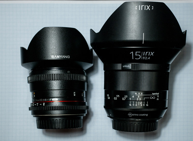 comparison irix 15mm samyang 14mm