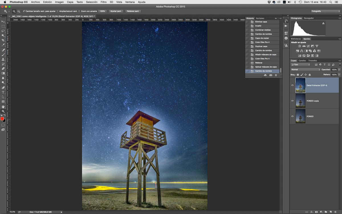 Photoshop fotografías nocturnas