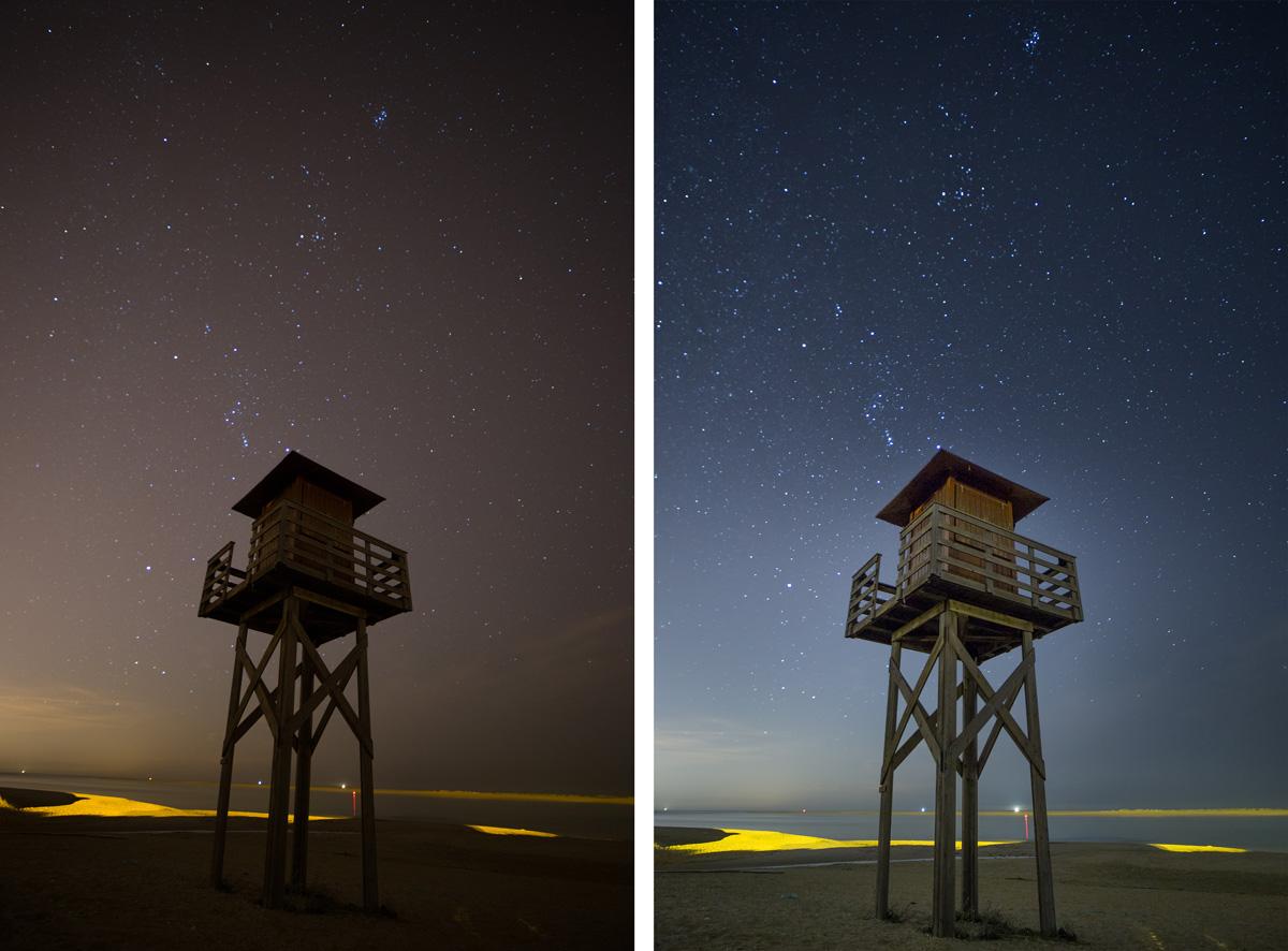 Retocar fotos nocturnas