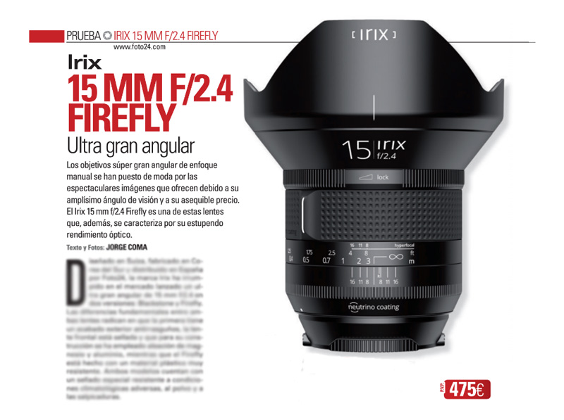 Irix 15mm prensa