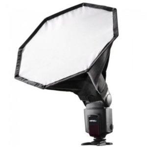 Para flash de zapata, este softbox será ideal para la fotografía de producto