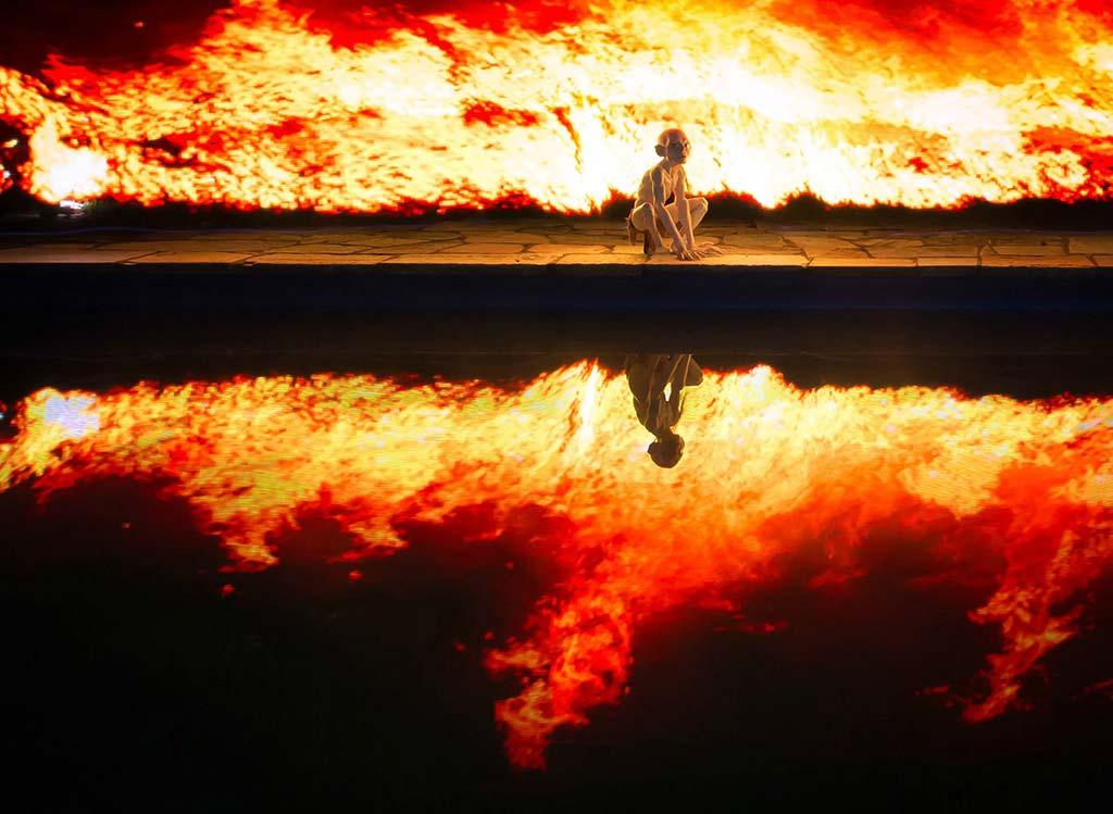 Flammes avec le Pixelstick