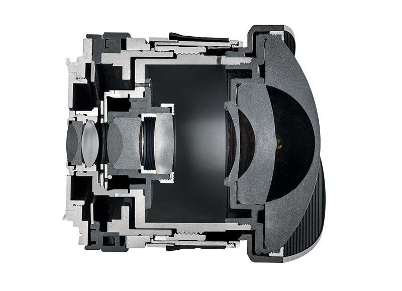 Ten en cuenta la construcción interna de la lente