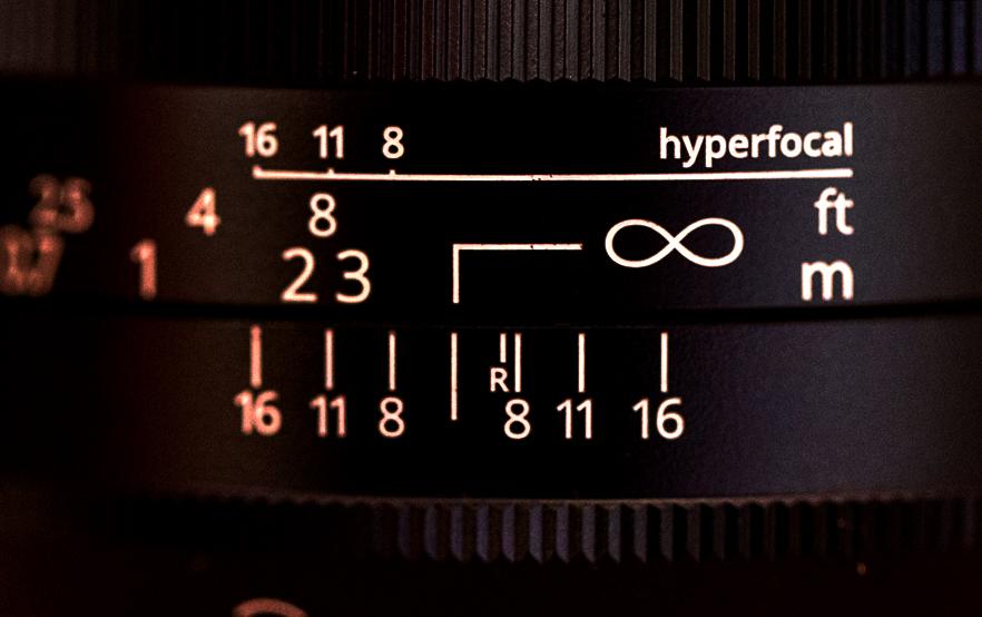 Les marques de profondeur de champ et d'hyperfocale sur les objectifs Irix