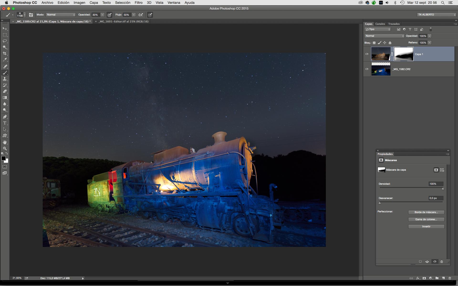 Des gels couleur pour flash sur les paysages industriels : edition sur Photoshop
