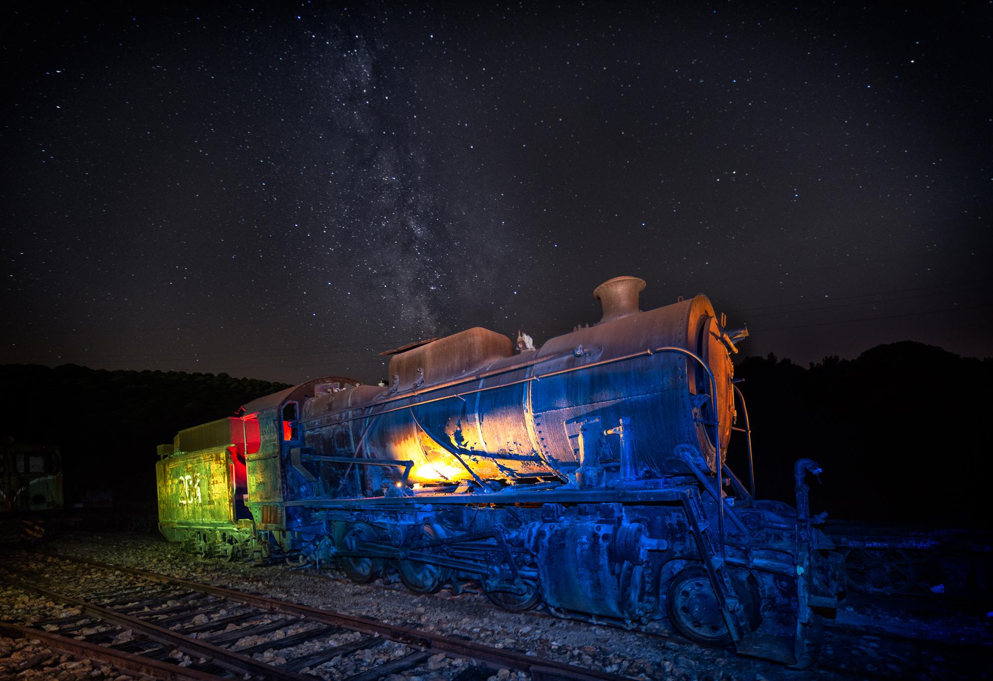 Des gels couleur pour flash sur les paysages industriels