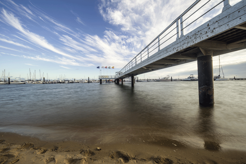 Pier photo with neutral density filters, Irix 11mm lens