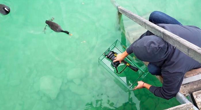 Making of de la fotografía en el agua