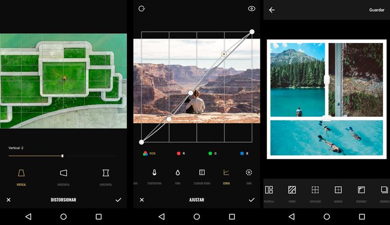 Aplicaciones fotográficas: Interfaz Fotor