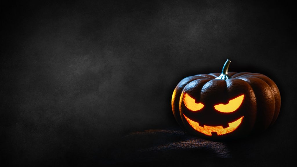 Fotos en Halloween con calabazas