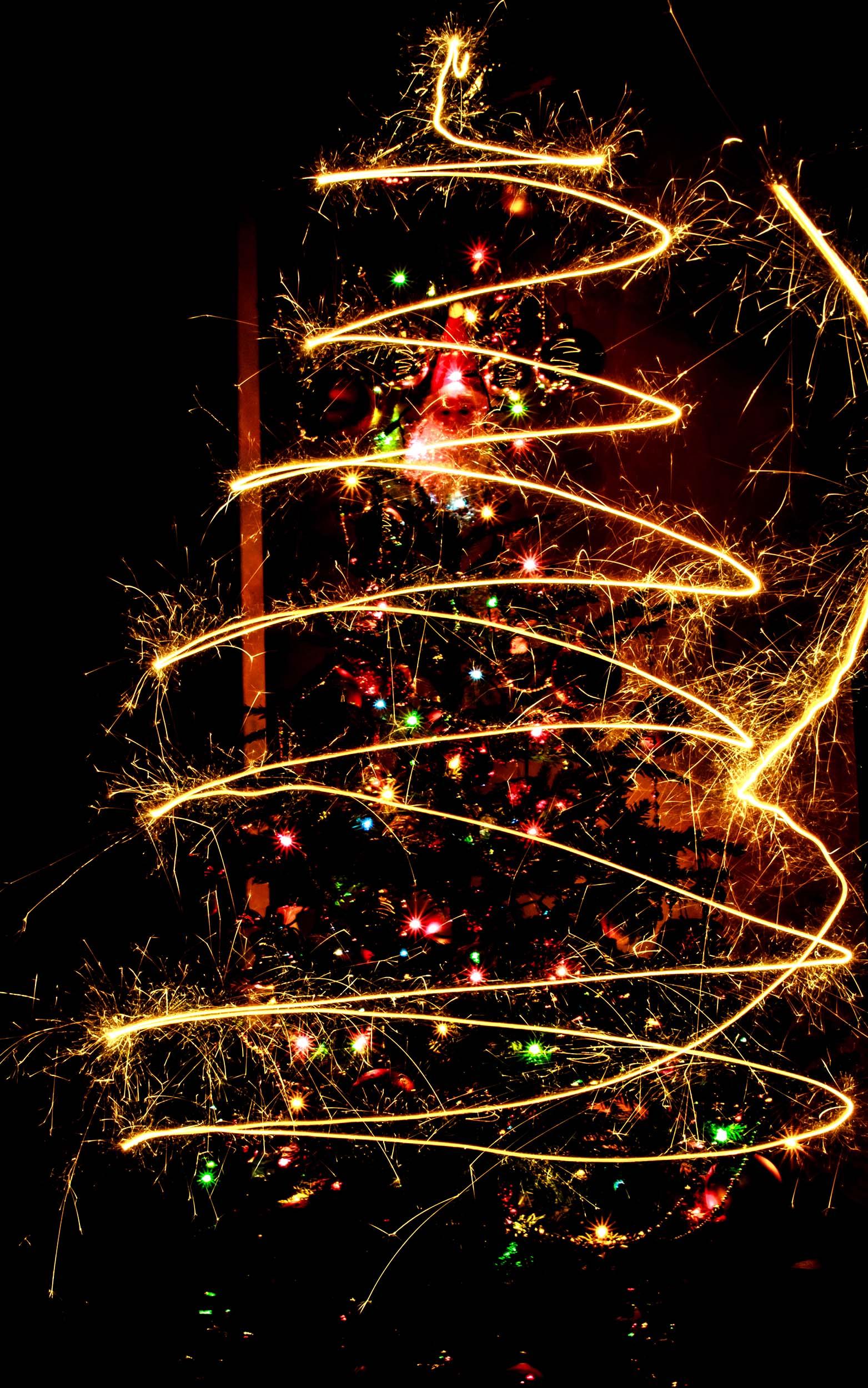 Photographier un sapin de Noël avec une télécommande