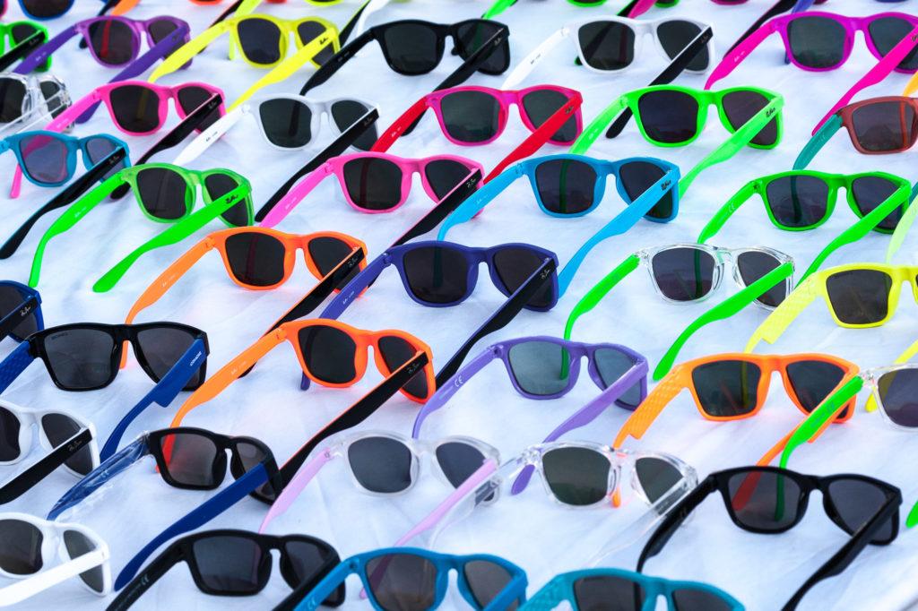 Detalle de gafas de sol