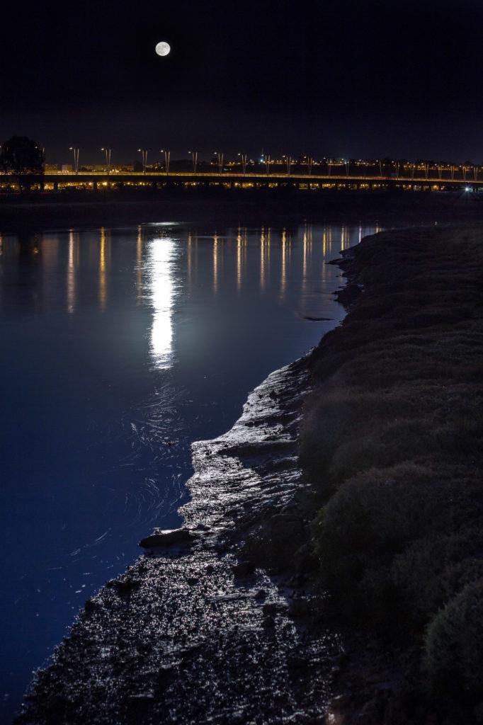 Teleobjetivo en fotografía de paisajes: Foto de una superluna