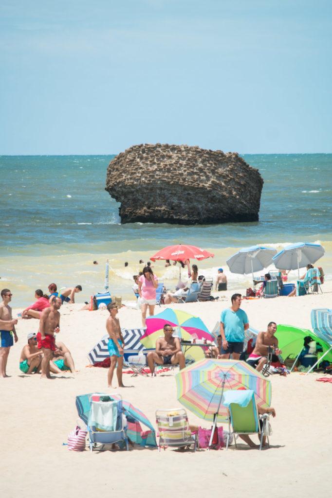 Teleobjetivo en fotografía de paisajes: Aumento de densidad en la playa