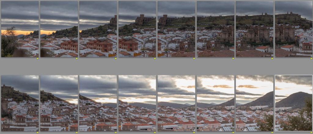 Teleobjetivo en fotografía de paisajes: Ejemplo de creación de panorámicas