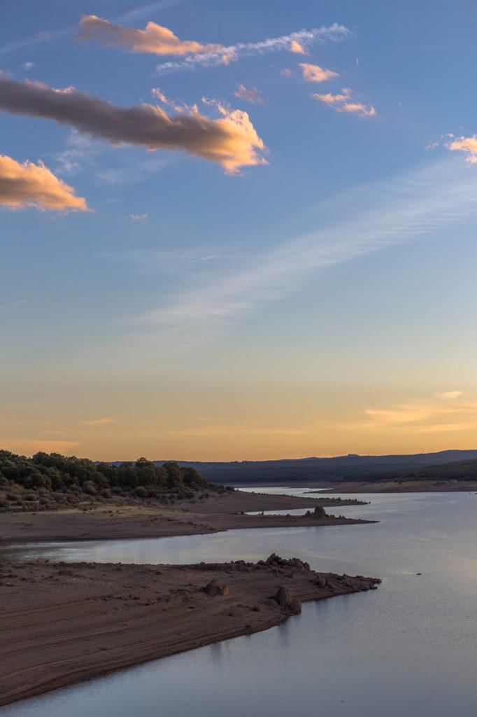 Teleobjetivo en fotografía de paisajes: Fotografía del río Tera
