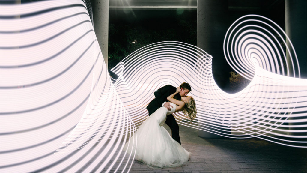 fotos de bodas creativas con lightpainting