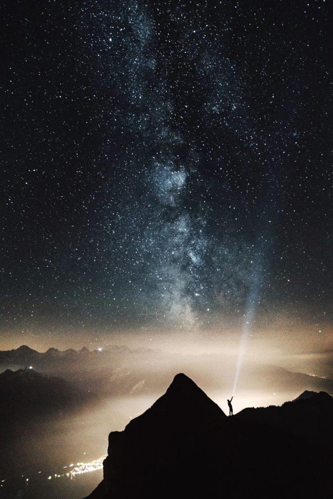 Fotografía nocturna usando el enfoque manual