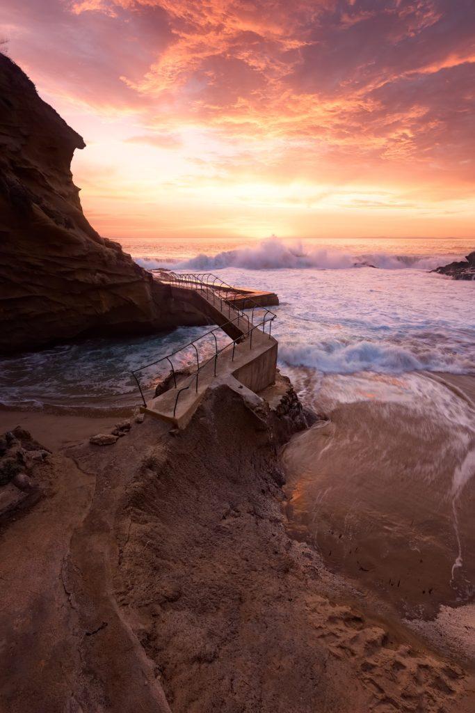 Playa fotografiada en un viaje