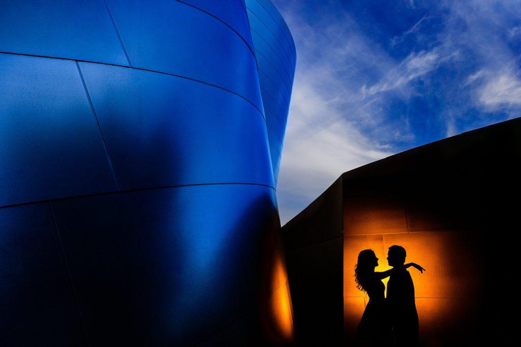 photographie de silhouettes