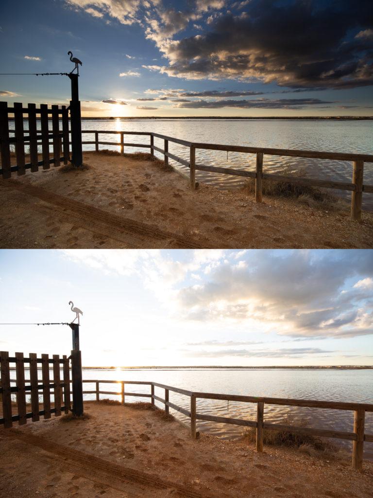 Comparación fotografía sin filtro y con filtro