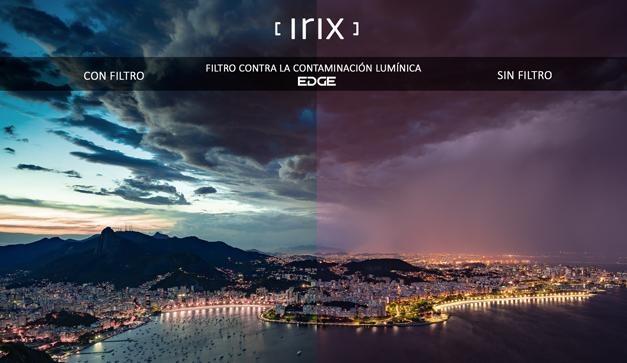 Efecto del filtro Irix contra la contaminación lumínica