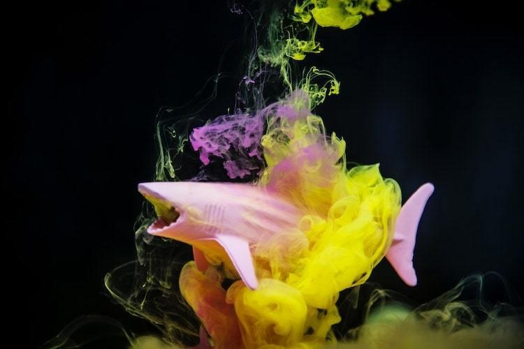 Prendre des photos de fumigènes de couleur avec un objet