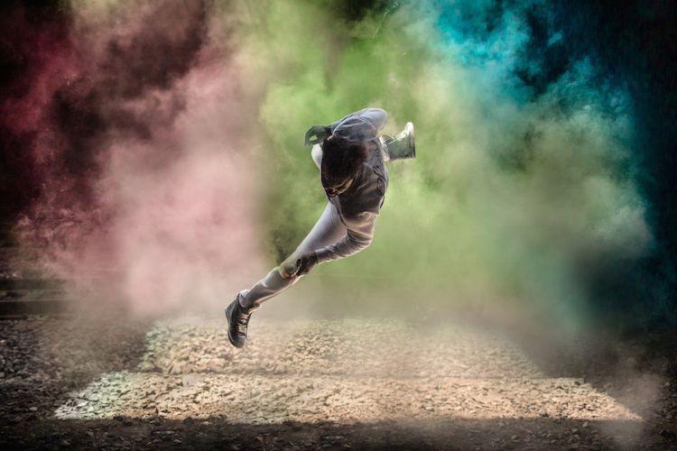 Hacer fotos de humo de colores