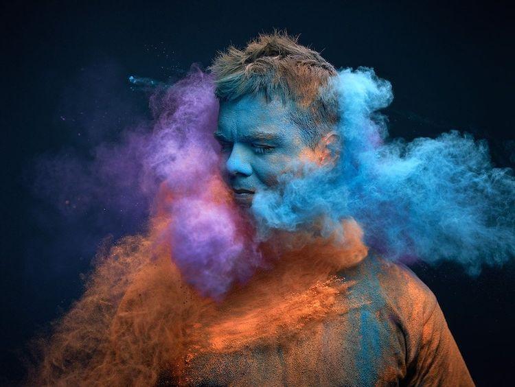 Descubre hacer fotos de humo de colores