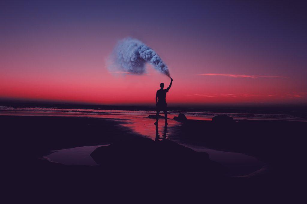prendre des photos de fumigènes de couleur