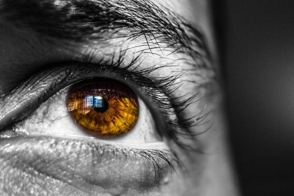 photos des yeux avec la technique cut out
