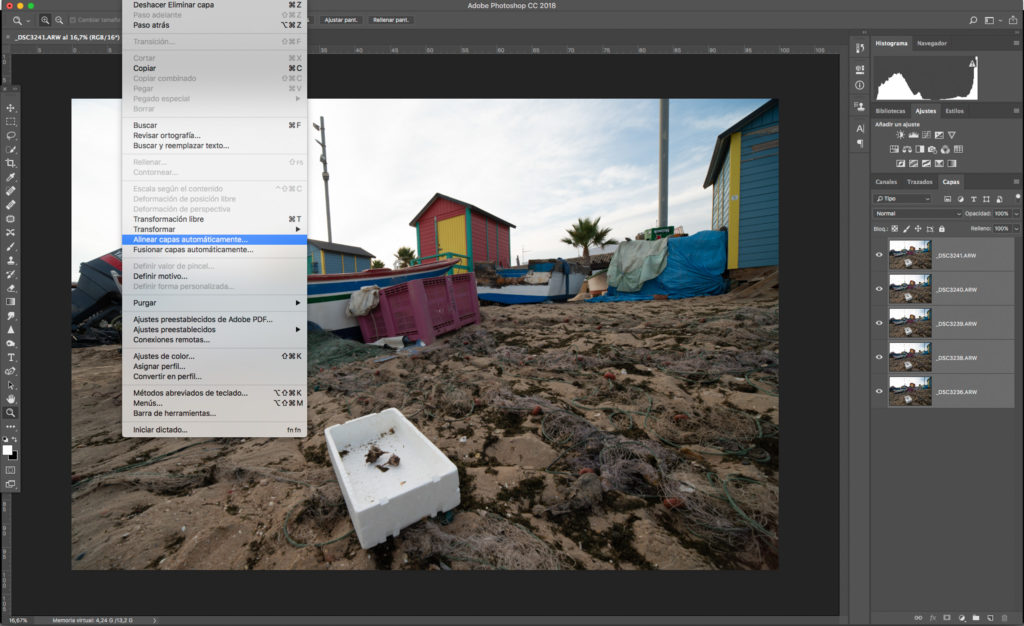 Faire le focus stacking sur Lightroom