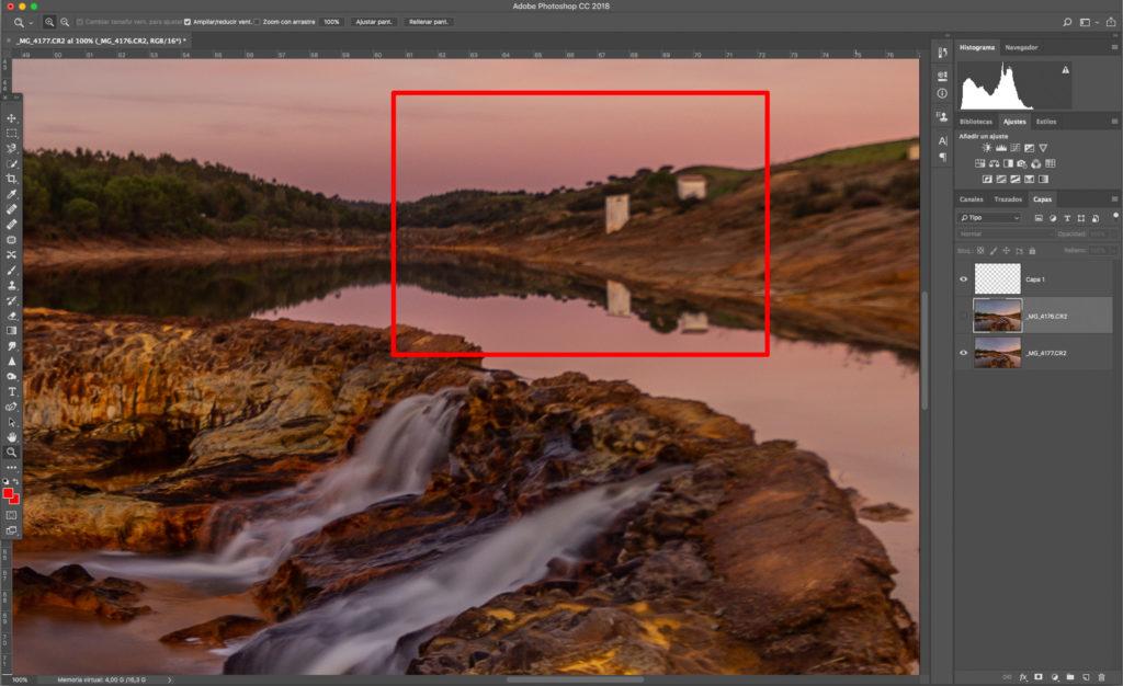 apilamiento para fotos de paisajes nítidas