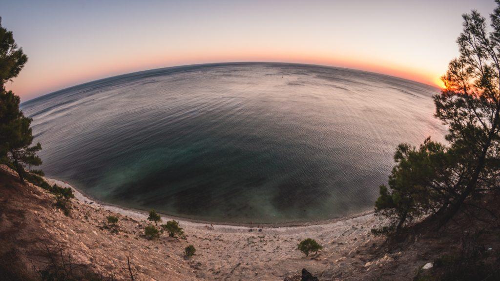 Objectifs fish eye pour des photos de couchers de soleil