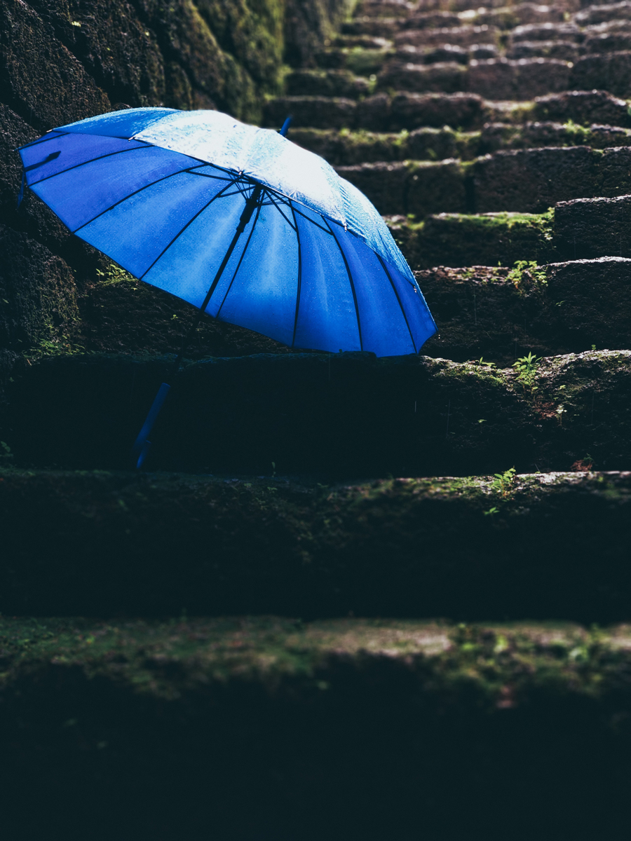 Incluye un paraguas en tus fotografías de lluvia