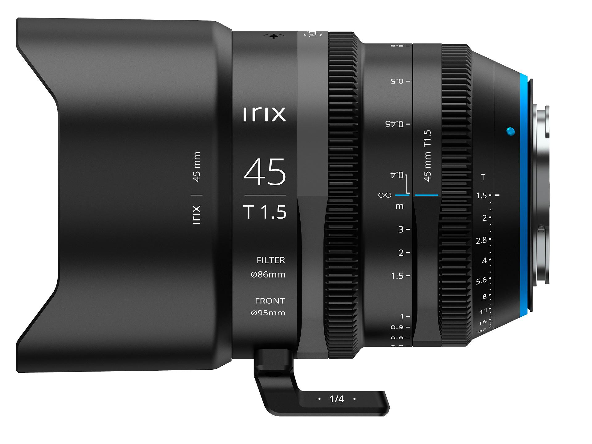 Irix Cine 45mm T1.5: para cámaras de cine Ultra HD 8K