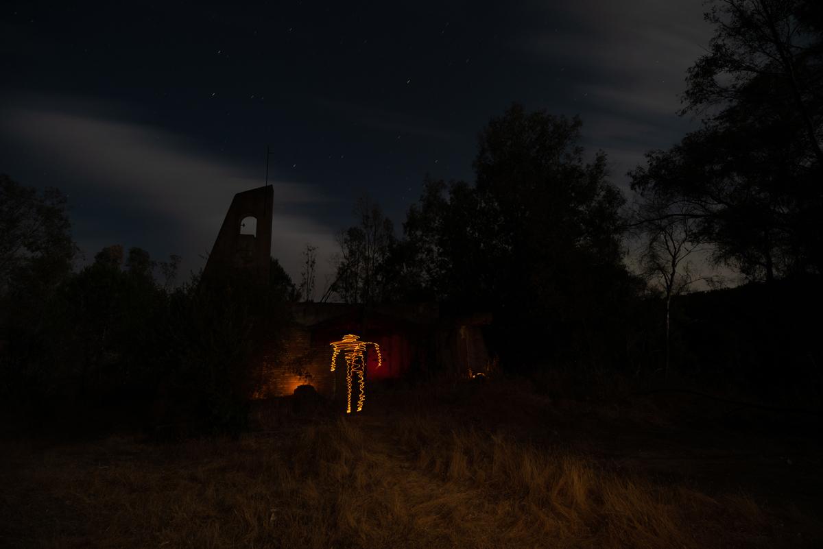 Crea una momia usando el lightpainting para Halloween