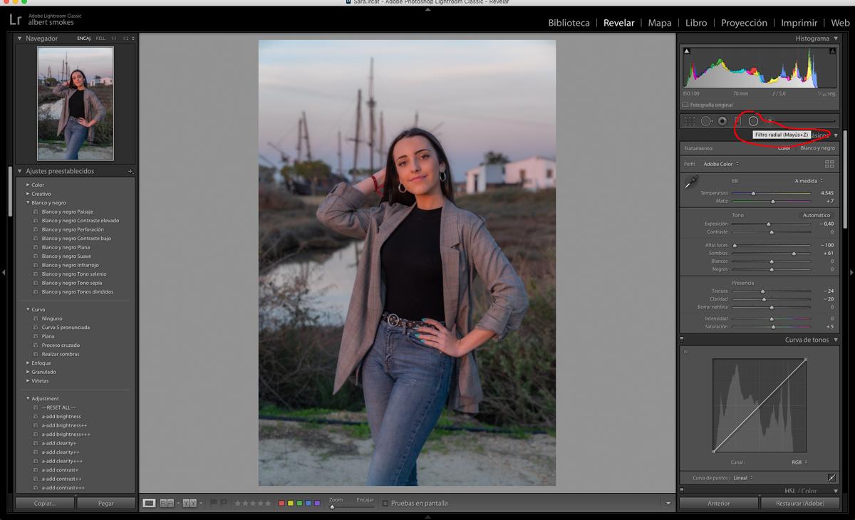 Ajustes básicos en la edición de retratos