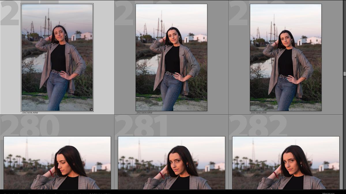 Aplico estos ajustes al resto de serie fotográfica