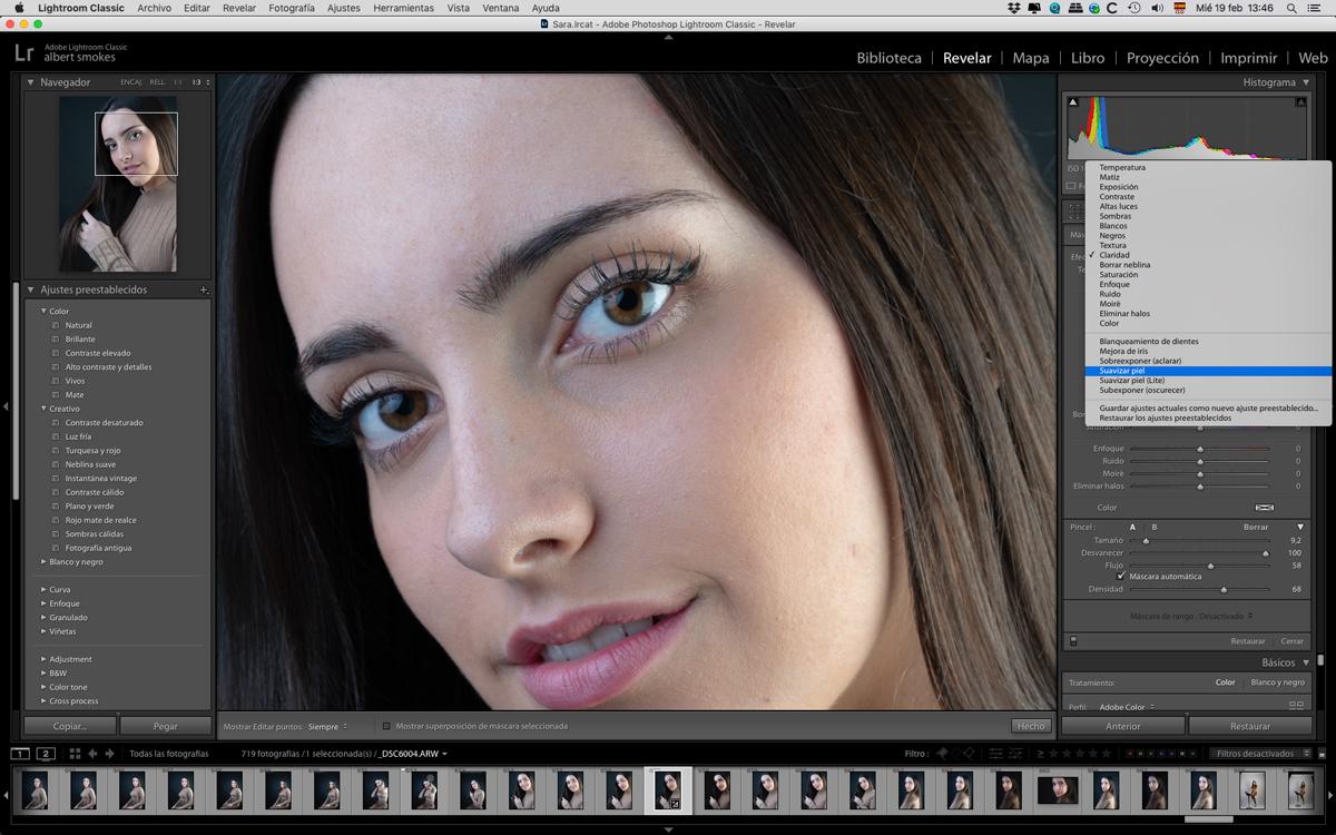 Suavizamos la piel en la edición de retratos