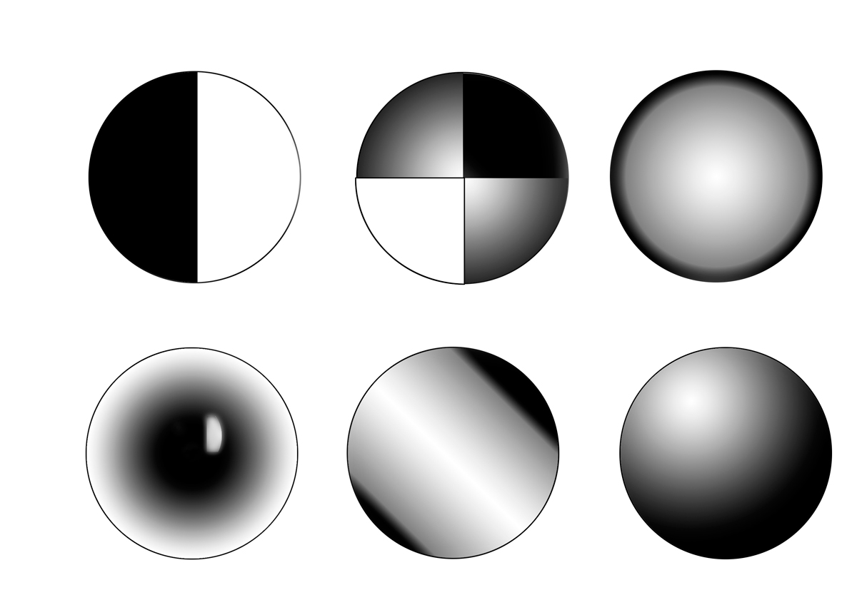 Uso de las sombras y luces para dar volumen