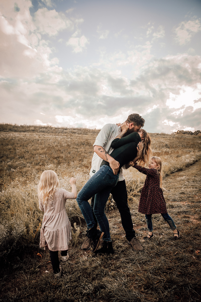 Un baiser avec toute la famille