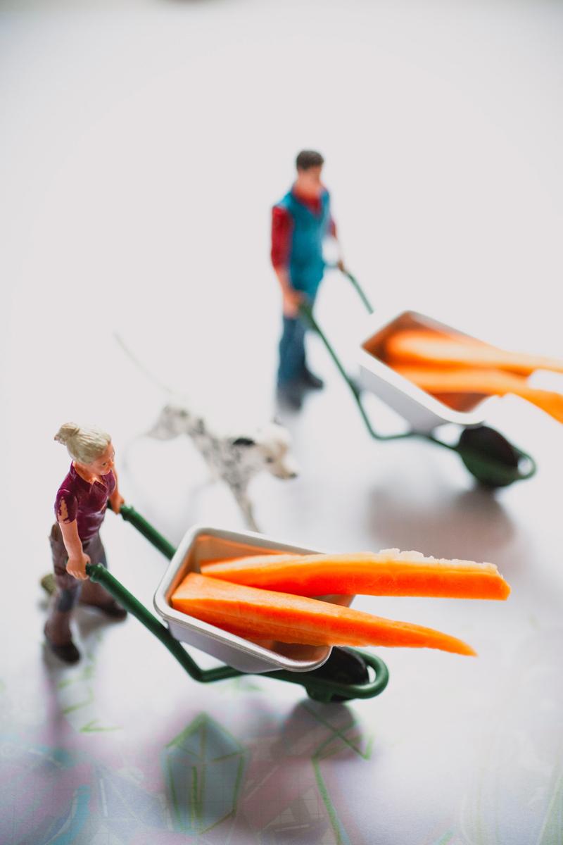 Miniaturas con comida