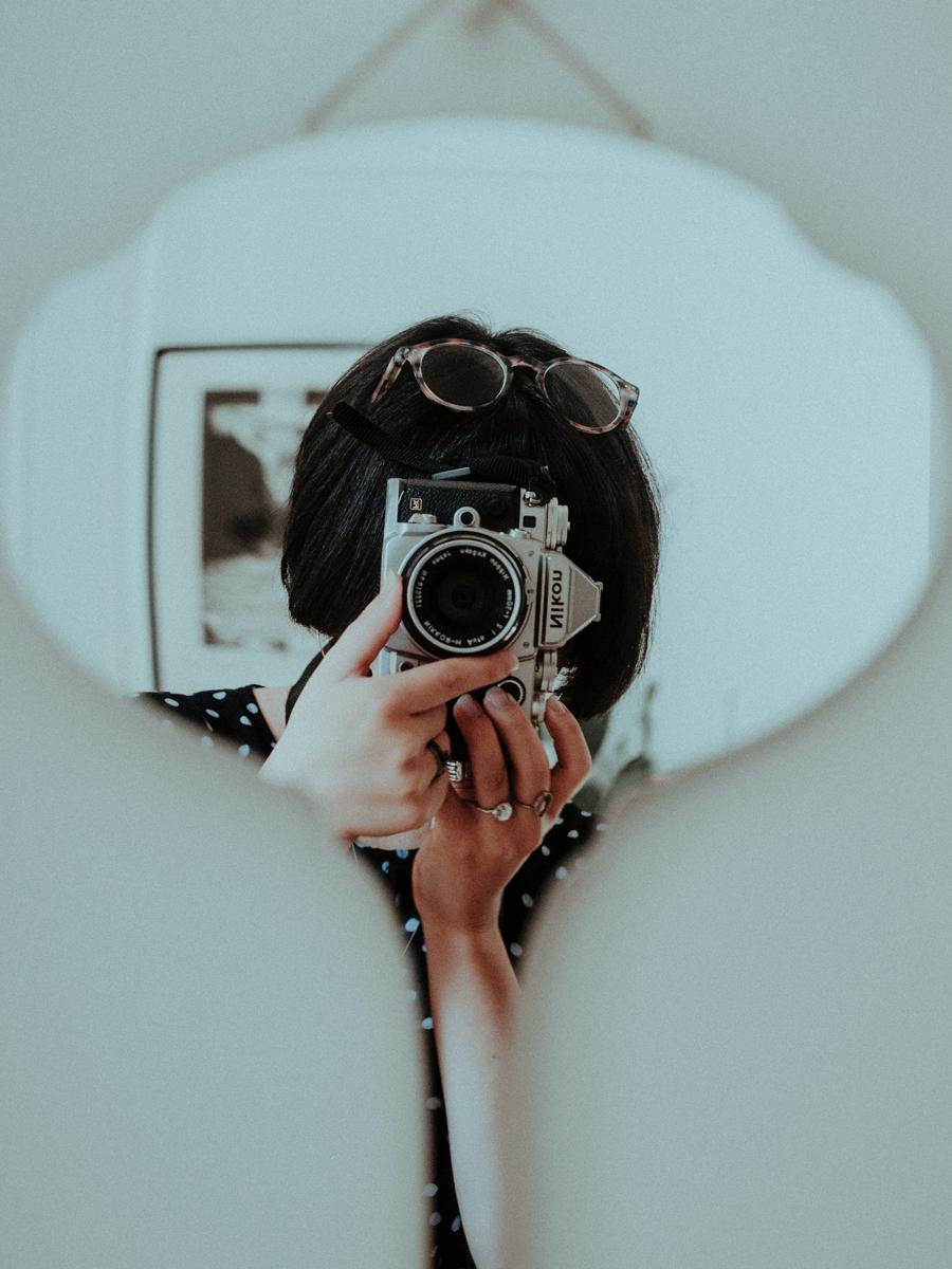 Retratos usando espejos: Autorretrato