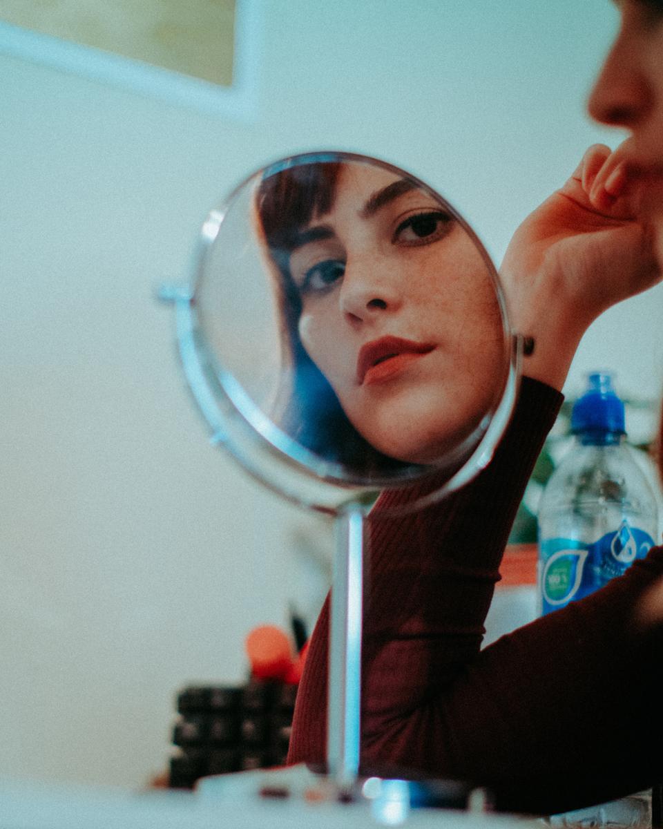 Retratos usando espejos pequeños
