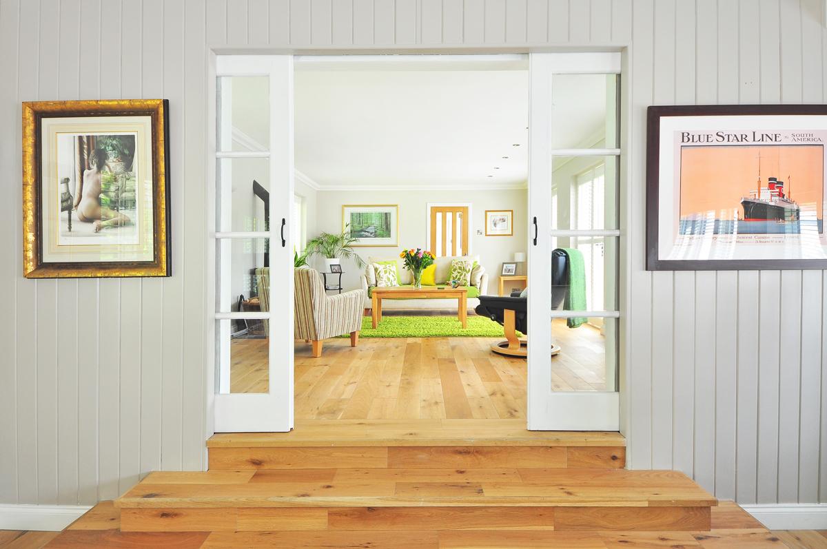 Les portes donnent de superbes cadres naturels