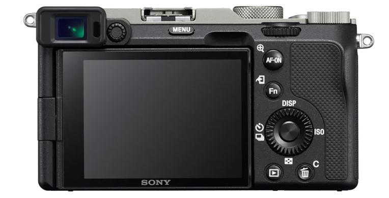 Parte trasera de la Sony A7C